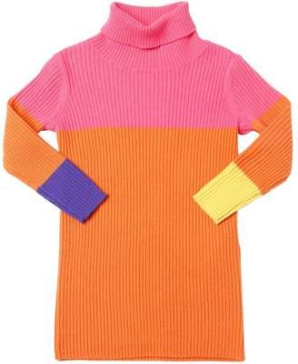 Il Gufo Wool Rib Knit Sweater Dress