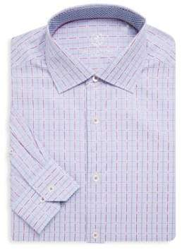 Bugatchi Checkered Cotton Dress Shirt