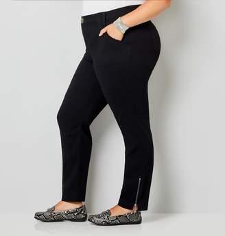 Avenue Plus Size Cotton Stretch Skinny Cargo Pant