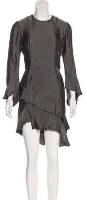 IRO Ruffle-Accented Knee-Length Dress w/ Tags