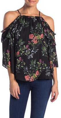 9fbbc106595fee Parker Floral Print Cold Shoulder Blouse