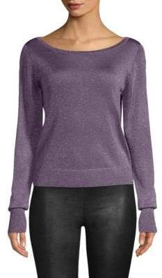 Ramy Brook Joslyn Sparkle Knit Sweater