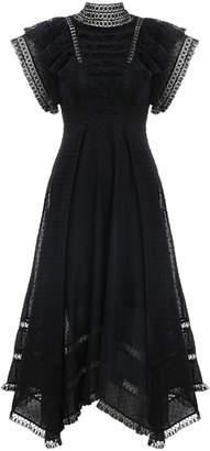 Zimmermann Juno Pintuck Cascade Dress