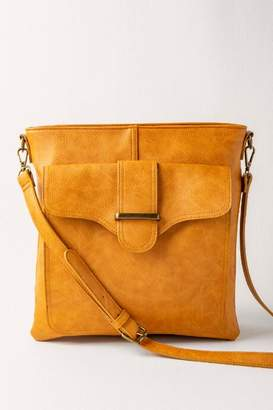 francesca's Zoe Vegan Leather Crossbody - Cognac