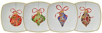 222 Fifth Paisley Ornaments Dessert Plates, Set of 4