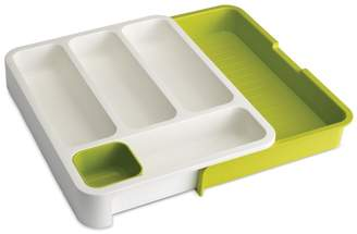Joseph Joseph Drawerstore Expandable Cutlery Tray In White And Green