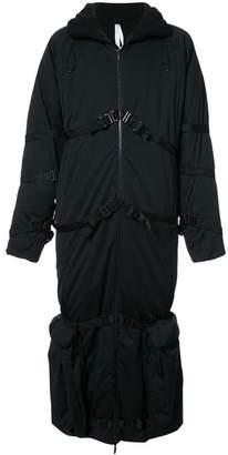 Cottweiler belt detail padded coat