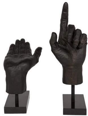 Global Views Pair of Hand Sculptures