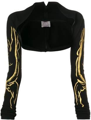 Romeo Gigli X Eggs bleached bolero jacket
