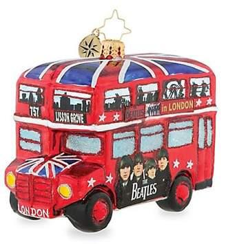 Christopher Radko Euroglass The British Invasion Beatles Bus Ornament