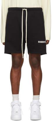 Essentials Black Fleece Sweat Shorts