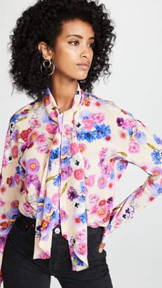 Natasha Zinko Floral Scarf Tie Blouse