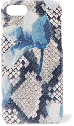 Factory The Case Printed Snake-effect Leather Iphone 7 And 8 Case - Blue