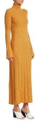 Elizabeth and James Women's Knit Wool Maxi Sweater Dress - Marigold - Size Small