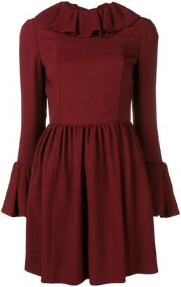 Valentino ruffle trim mini dress