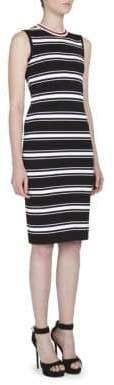 Givenchy Striped Crewneck Knit Dress