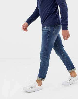 J.Crew Mercantile slim fit flex jeans in mid wash