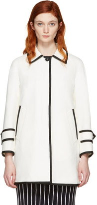 Thom Browne White Ball Collar Coat $2,390 thestylecure.com