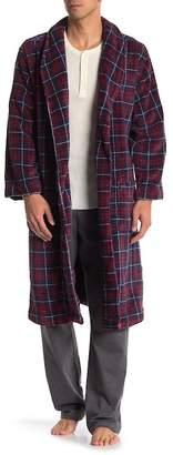 Tommy Hilfiger Plaid Printed Plush Robe