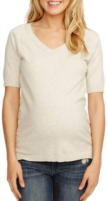 ROSIE POPE 'Avery' V-Neck Maternity Sweater