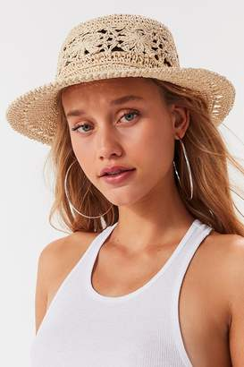 Urban Outfitters Floral Crochet Bucket Hat