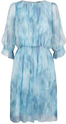 Elie Tahari Luciana Silk Print Dress