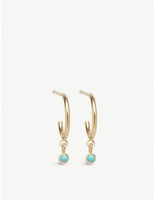 Chicco The Alkemistry Zoë 14ct yellow-gold and turquoise huggie hoop earrings