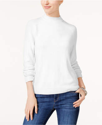 Karen Scott Petite Mock-Neck Sweater