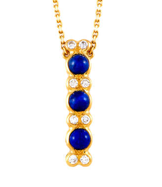Chaumet Heritage  18K 0.40 Ct. Tw. Diamond & Lapis Lazuli Necklace