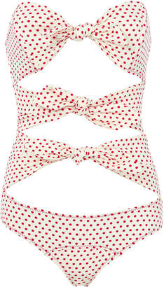 Lisa Marie Fernandez Poppy Polka Dot One Piece Swimsuit