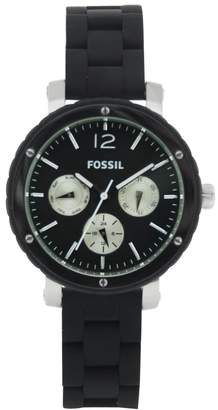 Fossil Women's BQ9408 Silicone Analog with Dial Watch