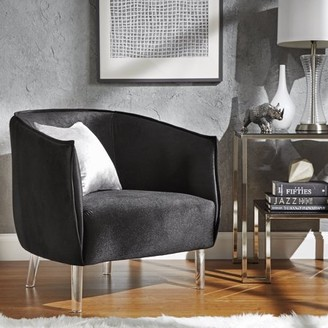 clear Weston Home Eldridge Barrel Accent Chair With Legs, Multiple Colors