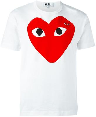 Comme Des Garçons Play embroidered heart print T-shirt $105.61 thestylecure.com