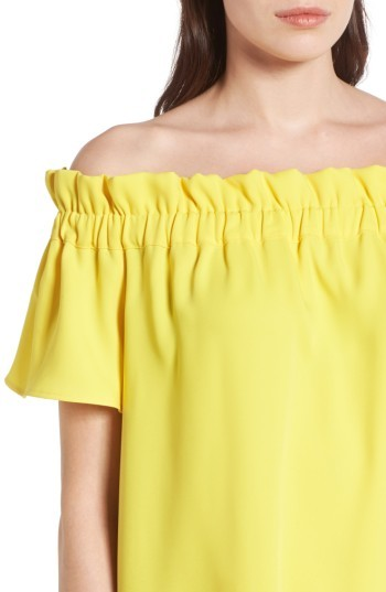Petite Women's Pleione Off The Shoulder Dress 2