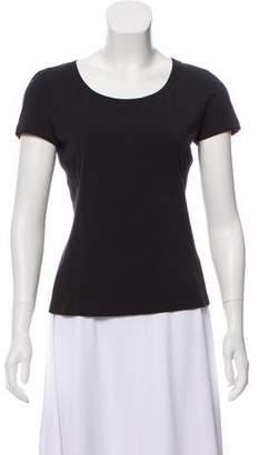 Lafayette 148 Short Sleeve Bateau Neck T-Shirt