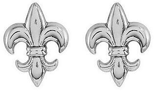 QVC Polished Fleur-de-Lis Stud Earrings, 14K Gold