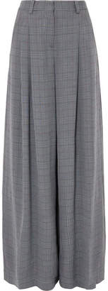 Off-White Galles Checked Woven Wide-leg Pants - Gray