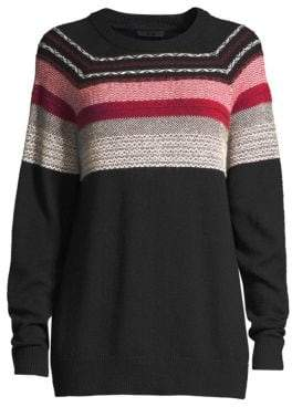 ATM Anthony Thomas Melillo Merino Wool Fair Isle Sweater