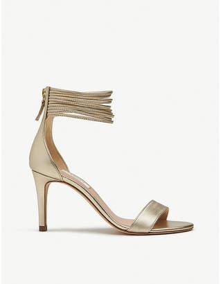 a6f078a1544f LK Bennett Tiffany metallic-leather heeled sandals