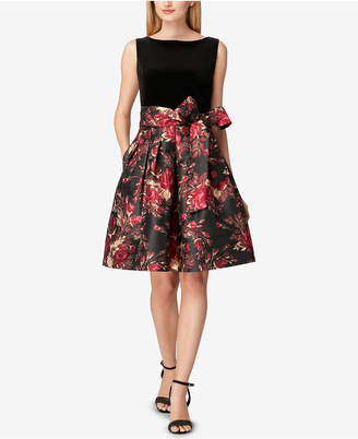 Tahari ASL Tahari Floral Fit & Flare Dress