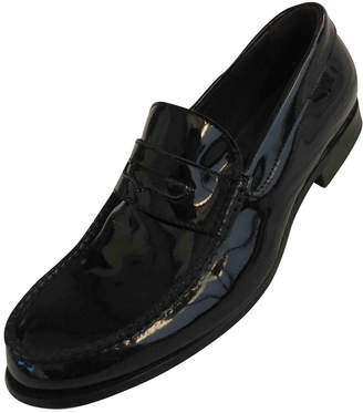 DSQUARED2 Navy Patent leather Flats
