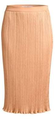 Max Mara Women's Emmy Plisse Pencil Skirt - Powder - Size 8