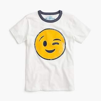 J.Crew Boys' winking emoji T-shirt