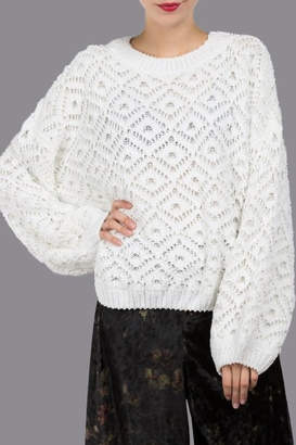 POL Diamond Lace Sweater
