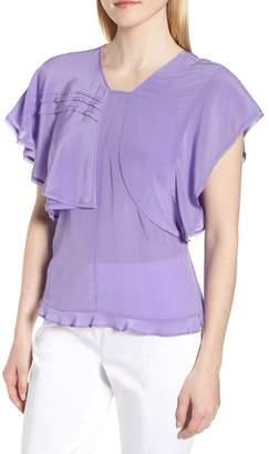 Lewit Ruffle Silk Top