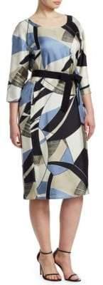 Marina Rinaldi Marina Rinaldi, Plus Size Printed Silk Sheath Dress
