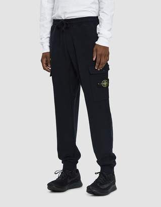 Stone Island Cargo Fleece Pant in Navy Blue