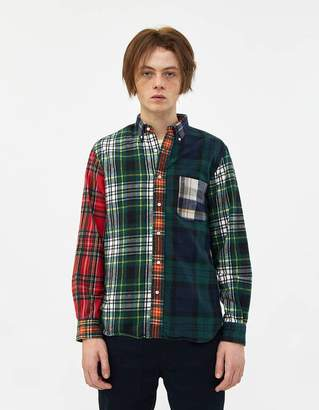 Beams BD Crazy Shaggy Tartan Shirt