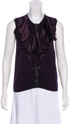Lanvin Silk-Trimmed Sleeveless Top