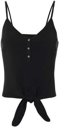 Intermix Emma Tie Front Black Tank